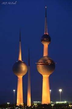Kuwait Towers. Love Kuwait Towers.