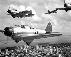 U.S. Navy dive bombers Northrop BT-1 Devastator 1941