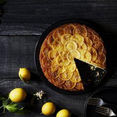 Meyer Lemon Cornmeal Upside-Down Cake -
