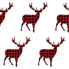 Plaid Deer  Buffalo Check  Standard Crib by PerfectlyLouDesigns