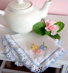 Rose Handkerchief Edgings Crochet Pattern