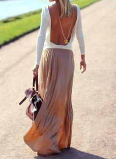 Robe blanc et vieux rose dos nu