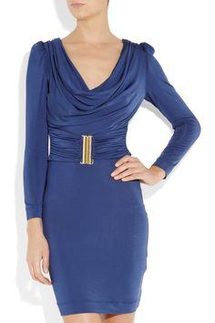 Just Cavalli: draped stretch-jersey dress