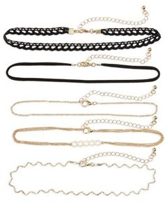 Women's Bp. 5-Pack Chokers Wonderful buy on chokers that look lovely around your neck while on a blogging video.   Aff link