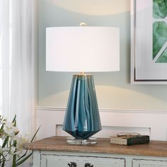 Shop Uttermost  27225-1 Pescara Teal-Gray Glass Lamp at ATG Stores. Browse our table lamps, all with free shipping and best price guaranteed.