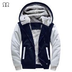 Europe Size Winter Warm Thick Hoodies Men Hoody Pullover Cotton Bomber Jacket Coats Men Fleece Cardigans Mens Sweatshirts 2018
