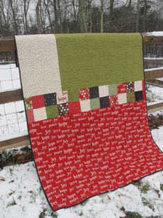 My Christmas quilt back