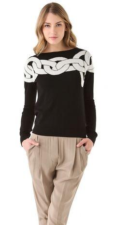 Diane von Furstenberg Tinkit Chain Sweater
