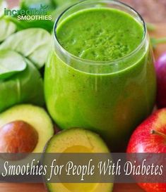 Diabetes mellitus is classed into two different types. Type one diabetes happens when the body does not produce the insulin necessary to metabolize sugars. Type two diabetes is where the body has become resistant to insulin and does not use the hormone. Avocado Smoothie, Smoothie Legume, Juice Smoothie, Smoothie Cleanse, Juice Cleanse, Type 2 Diabetes Recipe, Diabetes Tipo 1, Cure Diabetes, Diabetes Diet