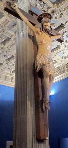 Crocifisso in legno policromo del XV secolo - Museo Stefano Bardini - Firenze