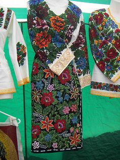 Bukovyna's beaded and sequins embroidered costume (Western Ukraine). More about Ukrainian trends in world fashion Ukrainian Dress, Ukrainian Art, Ukraine, Folk Costume, Costumes, Europe Fashion, Clothes Crafts, Traditional Outfits, Folklore