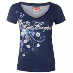 Lee Cooper Textured All Over Print T Shirt Ladies