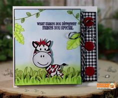 Gina K. Designs: Stamp Set - Xavier Zebra By: Beth Silaika Pure Luxury Card Stock & Pattern Paper - Cold Snap Made For Gina K. Designs By: Karen Hightower Available @  http://www.shop.ginakdesigns.com