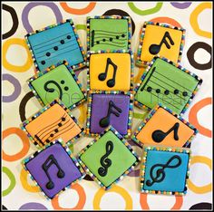 Music Bars and Notes (Square Cookie Cutter)