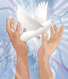 Hands Wish For Peace Royalty Free Stock Vector Art Illustration Praise Hands, Give Peace A Chance, Hand Images, Peace Dove, Angels Among Us, White Doves, Peace On Earth, Hand Designs, Free Vector Art