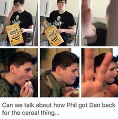 The look of fear in phils eyes in the second one omg
