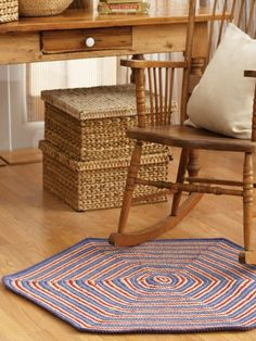 Circle Rug | Yarn | Free Knitting Patterns | Crochet Patterns | Yarnspirations