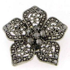 Silver Crystal Flower Brooch Pin Romeo & Juliet Couture. $15.00. Gift Boxed. Dress up any outfit. Stunning Silver plate. Genuine Austrian Crystals. Fashionable flower design