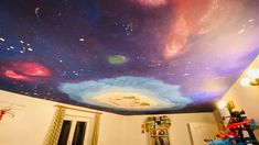Vlog – Výmalba stropu VESMÍR   Kreativní Brabec Jena, Northern Lights, Decor, Decoration, Nordic Lights, Aurora Borealis, Decorating, Deco, Aurora