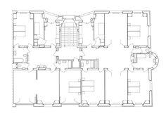 Maurice Braillard e Louis Vial, Montchoisy-Deux-Parcs (1927-1931), corte A, planimetria tipo. (Pianta FBA) Maurice, Parcs, Floor Plans, Models, How To Plan, House, Design, Architecture, Templates