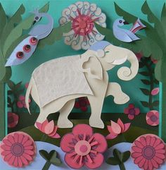 Lovely asia-inspired paper pieced card