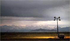 Perimeter fence of Bagram, Afghanistan.