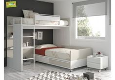 Deciding to Buy a Loft Space Bed (Bunk Beds). – Bunk Beds for Kids Safe Bunk Beds, Kids Bunk Beds, Bunk Beds With Stairs, Bunk Bed Designs, Bed Plans, Loft Spaces, Boy Room, Girls Bedroom, Bedrooms