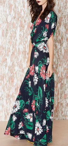 "Fleur Maxi Dress - Lover the pattern, would want a different flower print for me though ""):-)"