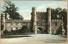 Vintage postcard of Battle Abbey at Battle in East Sussex, England. Printed in Saxony.