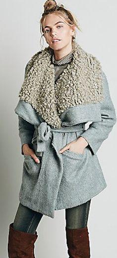 warm grey wrap jacket