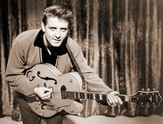 """Eddie Cochran, one of the very first guitar heroes. He helped to make Gretsch guitars a """"go to"""" instrument for players of just about any genre. Nobody did """"cool"""" like Eddie Cochran."""
