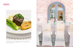 New Arthur's Catering Look Book - Sparkling Romance.  Photography by Amalie Orrange. Graphic design by Santa Bogdon.