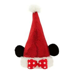Minnie Mouse Santa Hat for Adults