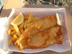 fish and chips on Petone Foreshore