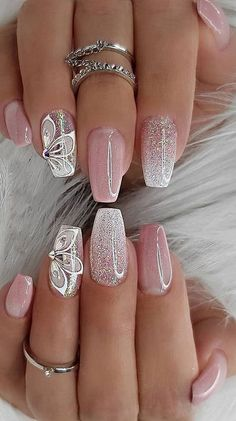 Really Sweet Glitter Nail Designs! You will .- Really Sweet Glitter Nail Designs! You will love this part 23 – Really Sweet Glitter Nail Designs! You will love this part Glitter nail art; Shiny Nails, Bright Nails, Glam Nails, Cute Nails, Pretty Nails, Bright Nail Designs, Pretty Nail Designs, Nail Art Designs, Nails Design