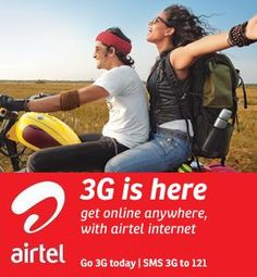 Airtel 3G Data Plans for USB Modem and Smartphones in Delhi