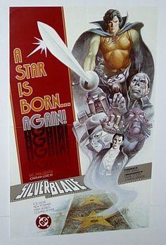 1987 DC Comics Silver Blade promo poster: Wolfman/Dracula/Phantom of the Opera