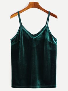 Shop Green Velvet Cami Top online. SheIn offers Green Velvet Cami Top & more to fit your fashionable needs.