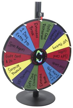 Buy this dry erase spin wheel game for promotional events, fundraisers or to boost morale in the office. Find the ideal prize fixture at Displays2go.