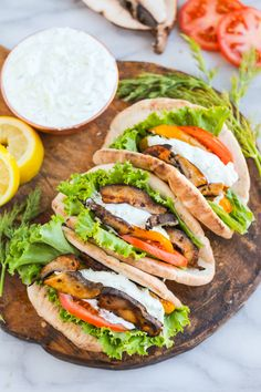 Vegan Dinner Recipes, Vegan Dinners, Vegetable Recipes, Vegetarian Recipes, Healthy Recipes, Healthy Wraps, Tasty Meals, Vegetarian Options, Grilled Portabella Mushrooms