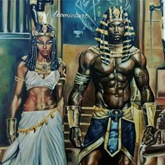 Black is Beautiful! It's nothing you can do about our Blackness! Afro Punk, Black King And Queen, King Queen, Black Royalty, African Royalty, Black Art Pictures, Black Artwork, Black Girl Art, Egyptian Art