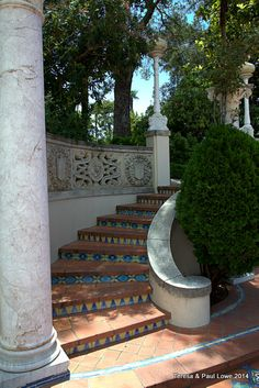 one of many ornate stairways leading to the castle.