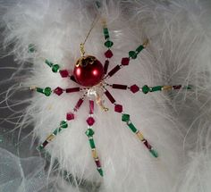 Christmas Spider https://www.etsy.com/listing/191499528/red-and-green-crystal-glass-beaded?ref=exp_listing