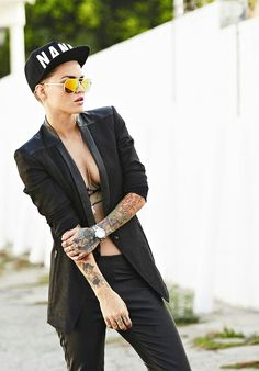 Tomboy chic: Ruby Rose.