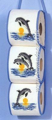 Buy Dolphins Toilet Roll Tidy Cross Stitch Kit Online at www.sewandso.co.uk