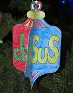 sunday school 3d paper christmas ornament bible craft for kids christmas crafts for kids christian