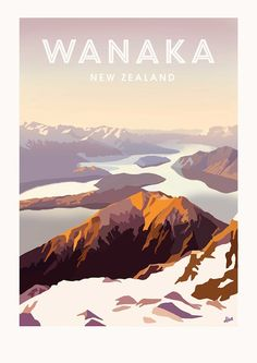 Wanaka Vintage Poster on Behance