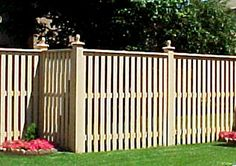 Super Privacy Fence Designs gallery includes featured privacy fences made from many types of materials and features many different designs. Low Fence, Front Yard Fence, Fenced In Yard, Privacy Fence Designs, Privacy Fences, Types Of Fences, Backyard Fences, Backyard Ideas, Fence Styles