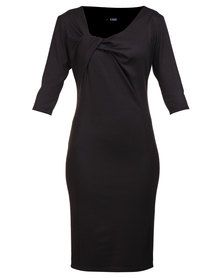 Erre Exclusive Pencil Dress with Twist Black Formal Dress Shops, Formal Wear, Formal Dresses, Pencil Dress, Evening Dresses, How To Wear, Stuff To Buy, Shopping, Clothes