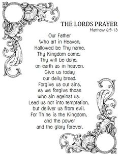 The Lords Prayer For Kids